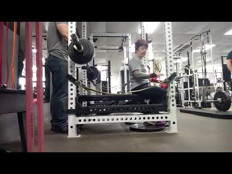 Brutal Iron Gym - Betty New Bench PR - 130lbs (see description)