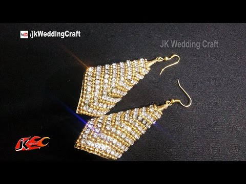 How to make Paper Earrings Jhumka | JK Wedding Craft 121