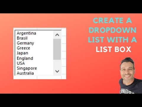 Create a Dropdown List with a List Box - Excel Form Controls