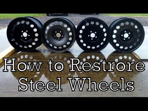 How to Restore Steel Wheels (Rust Removal and Spray Painting)