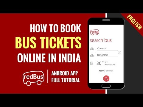 How to book Bus Tickets online in India | Redbus Android App | Step by Step Tutorial | In English