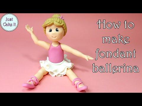 How to make fondant ballerina / Jak zrobić figurkę baletnicy z masy cukrowej