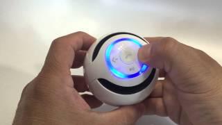 Intsun Wireless AY800 Sound Box Sphericity Mini Portable Round LED Bluetooth speaker - Unboxing