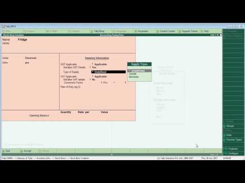 HSN Code & ( Multiple Tax with Gst  ) Tally.ERP 9 in Hindi