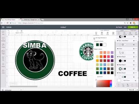 Cricut - Starbucks inspired DIY coffee mug Disney logo lion king tutorial video