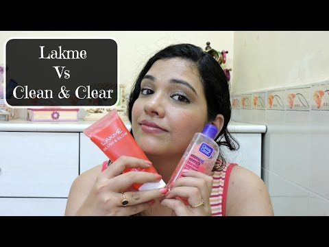 Lakme Blush n Glow Strawberry  vs. Clean & Clear Morning Energy Berry Face Wash   beautywithsneha