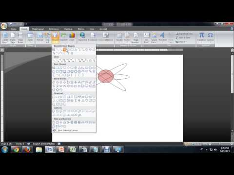 How to Make an Atom Shape Transparent in Microsoft Word : Tech Niche