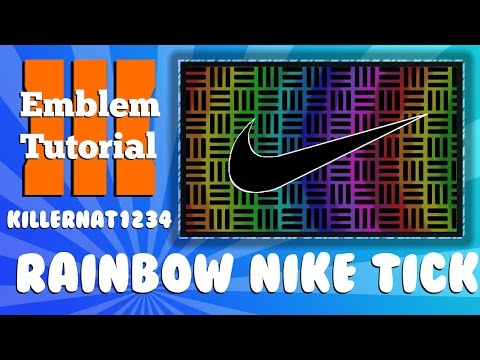 Black Ops 3 Emblem Tutorial: Rainbow Chequered Nike tick