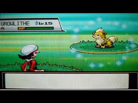 LIVE! Shiny Growlithe on Route 36 after 1,676 RE's! (HeartGold) (Repel Trick)