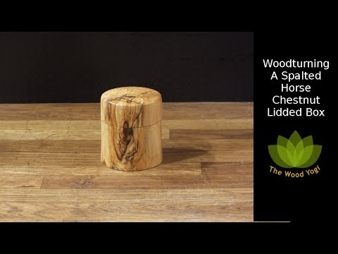 Spalted Horse Chestnut Lidded Box - Woodturning Project