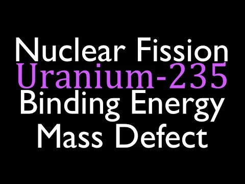 Mass Defect & Binding Energy (4 of 6), Fission of Uranium 235