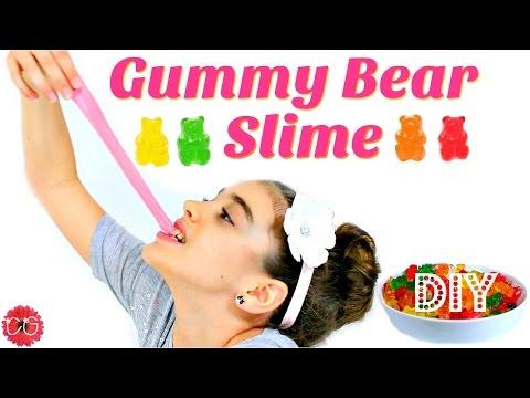 DIY GUMMY BEAR SLIME!  EDIBLE SLIME!