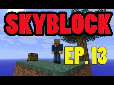 SKYBLOCK EP. 13:  ENDERMAN HUNTING (Skyblock Survival 2.1 Enderman Spawner Let's Play)