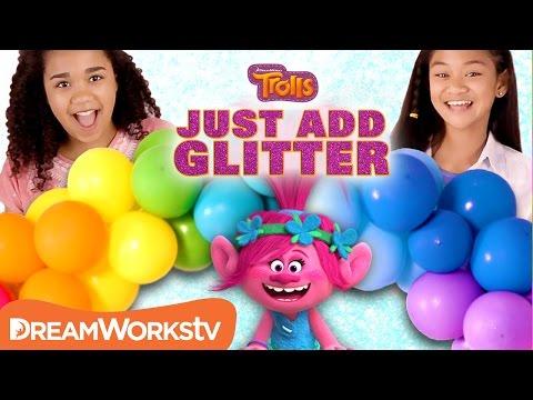 DIY Trolls Party Decorations   JUST ADD GLITTER   TROLLS