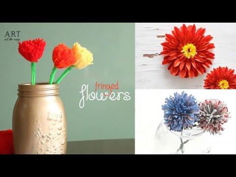 3 Easy Fringed Flowers