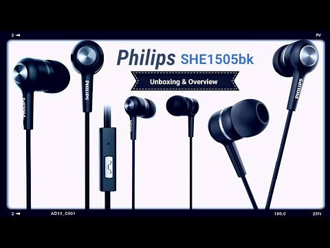 Philips SHE1505bk Earphones (Unboxing and Overview)