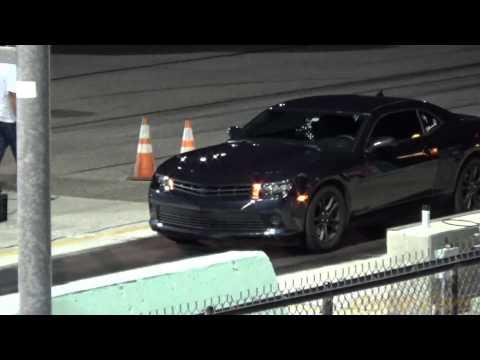 Subaru WRX vs Chevy Camaro V6 drag race!