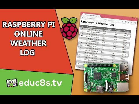 Raspberry Pi Project: Online Weather Data Log with MySQL and PHP with Sense Hat.