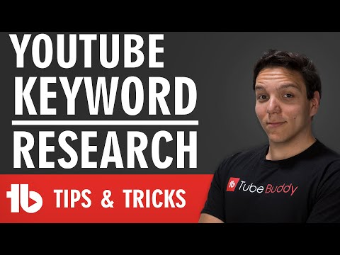 Keyword Research on YouTube 🔍 - Find the Best Tags for your Videos using TubeBuddy 📈