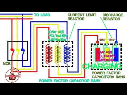 power factor capacitor bank connection diagram,how to connect three phase power factor capacitor