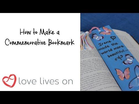 Memorial Craft: How to Make a Commemorative Bookmark