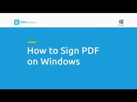 How to Sign PDF on Windows
