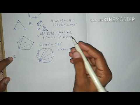 Sum of Interior Angles in Polygons Hindi