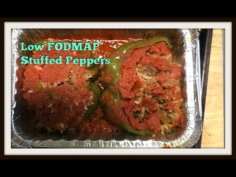 Low Fodmap Stuffed peppers    Using Canned ground beef