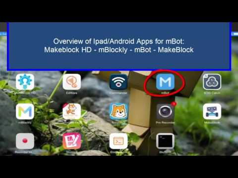 Overview of Makeblock Apps Ipad & Android
