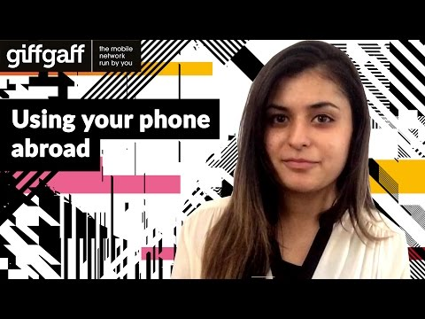 How to use your phone abroad | tutorial | giffgaff