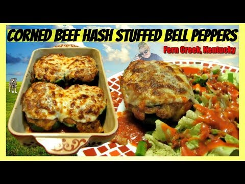 Corned Beef Hash Stuffed Bell Peppers