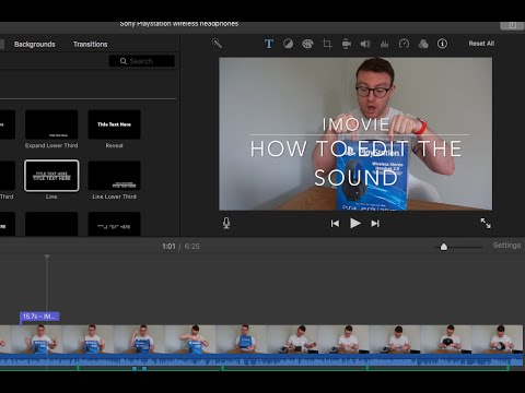 Sound and volume editing - iMovie for Mac