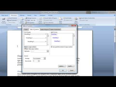 Create a Clickable Table of Contents in Microsoft Word in Less Than 60 Seconds