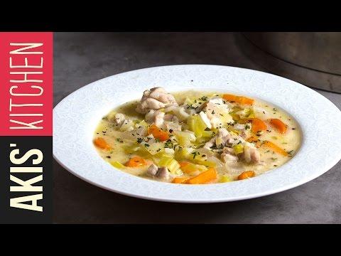 Greek Chicken Soup | Akis Kitchen