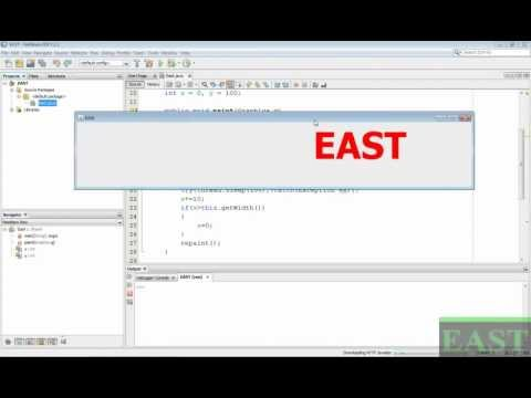 How to move text in java
