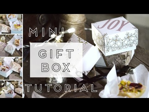Craft tutorial: Recycled Christmas Card Gift boxes