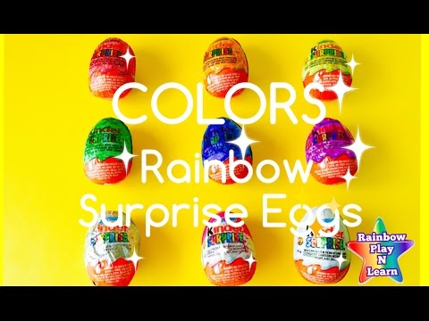 SURPRISE EGGS LESSONS LEARN HOW TO SPELL COLORS WITH TOYS Part 3