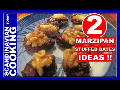 4 Ingredients  🎅 2 Easy Marzipan Filled Dates🎄 Christmas Candy Recipes