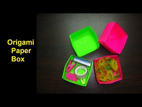 Origami paper box. how to make origami paper box. paper craft ideas with paper.