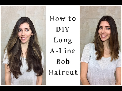 DIY : How to Cut A-Line Long Bob | Cutting Off My Hair at Home!