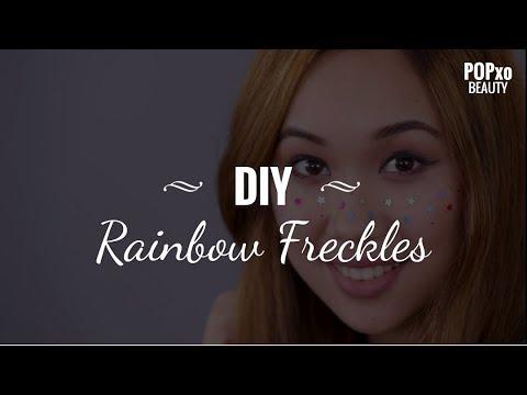 DIY Rainbow Freckles - POPxo Beauty
