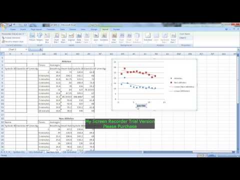 How to graph a scatter/line chart in excel 2007