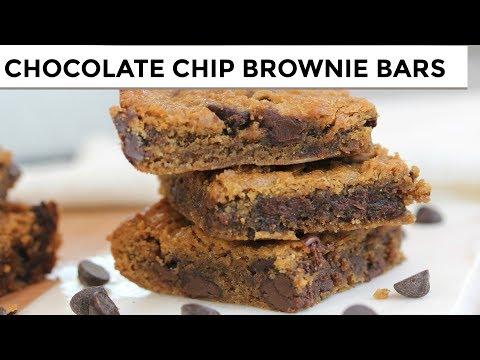 Chocolate Chip Brownie Bars | Vegan + Paleo + Grain-Free