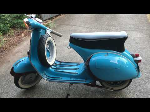 POSTCARD FROM ITALY - 1961 Piaggio Vespa GS Scooter