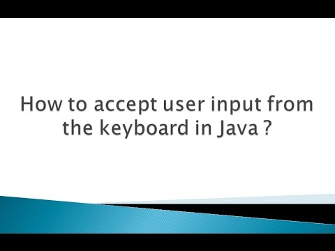 How to accept user input from the keyboard in Java ?