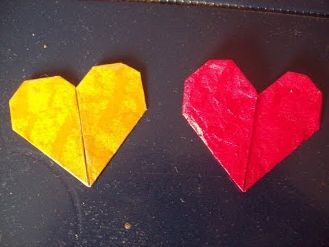 How to make a heart out of a gum wrapper