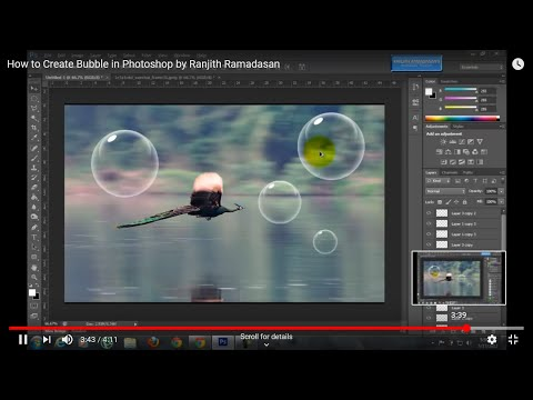 How to Create Bubble in Photoshop by Ranjith Ramadasan