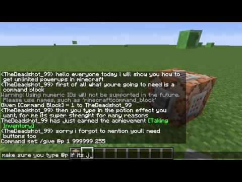 Minecraft Tutorial: how to get unlimited potion effects