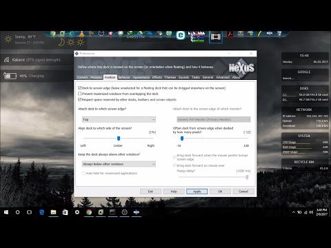Customizing windows 10 Desktop with Nexus!