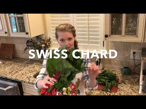 How to Clean and Cut Fresh Swiss Chard- The Girl In The Apron- Lizzy McAvoy